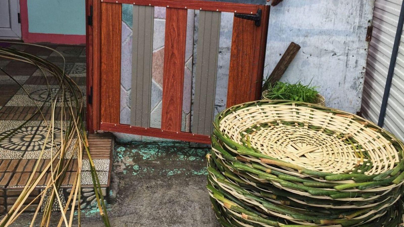 Paniers bazar en bambous