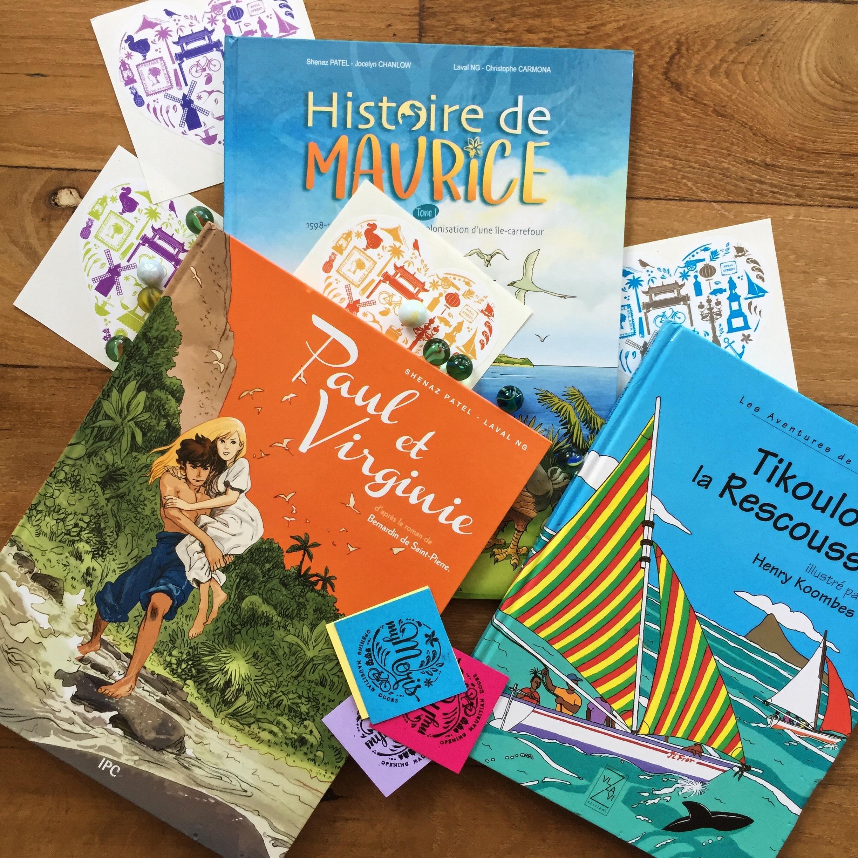 Littérature mauricienne jeunesse album roman bande dessinées enfants