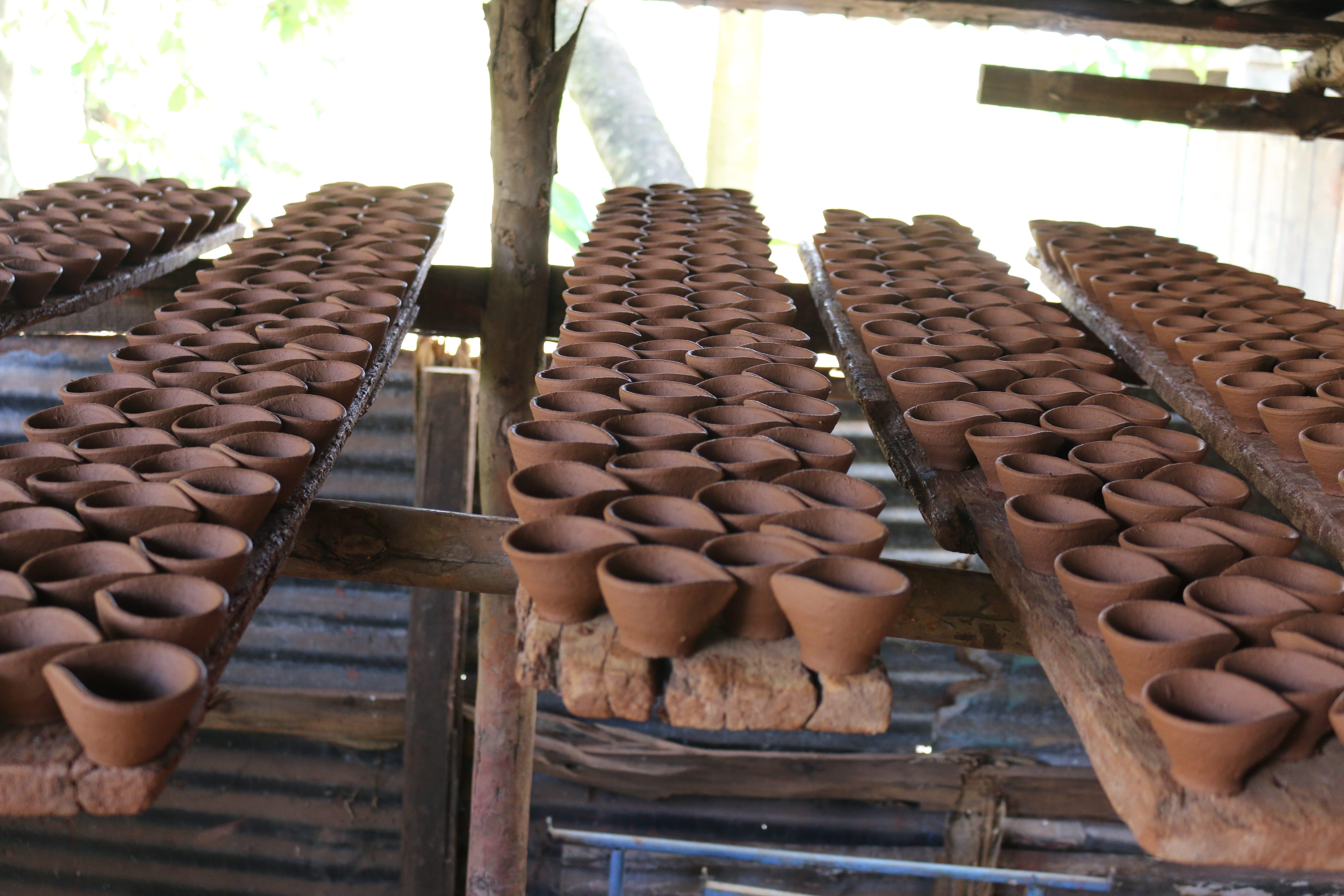 Ile Maurice village traditions Divali diya potier