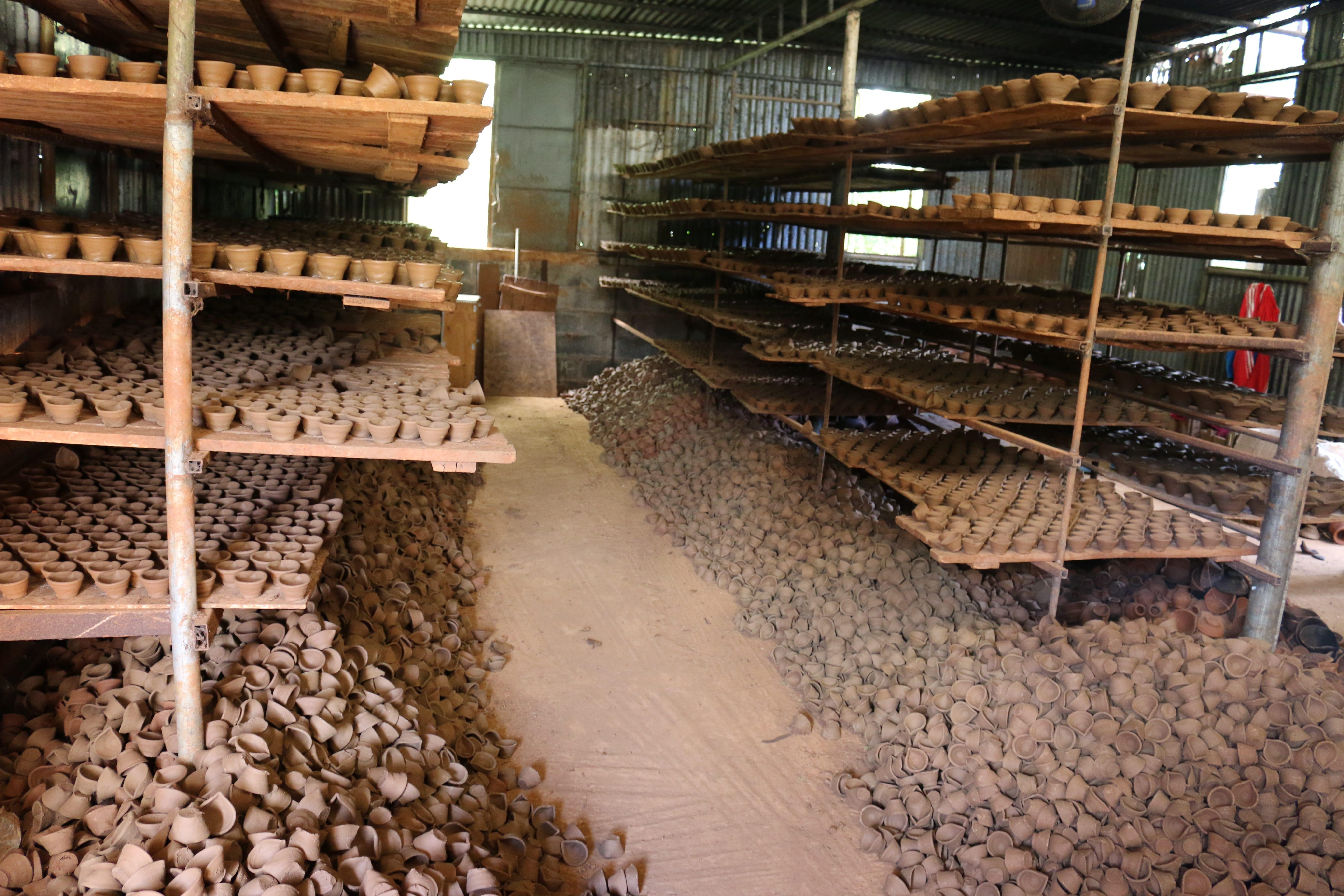Ile Maurice traditions poterie entrepot Arsenal diya