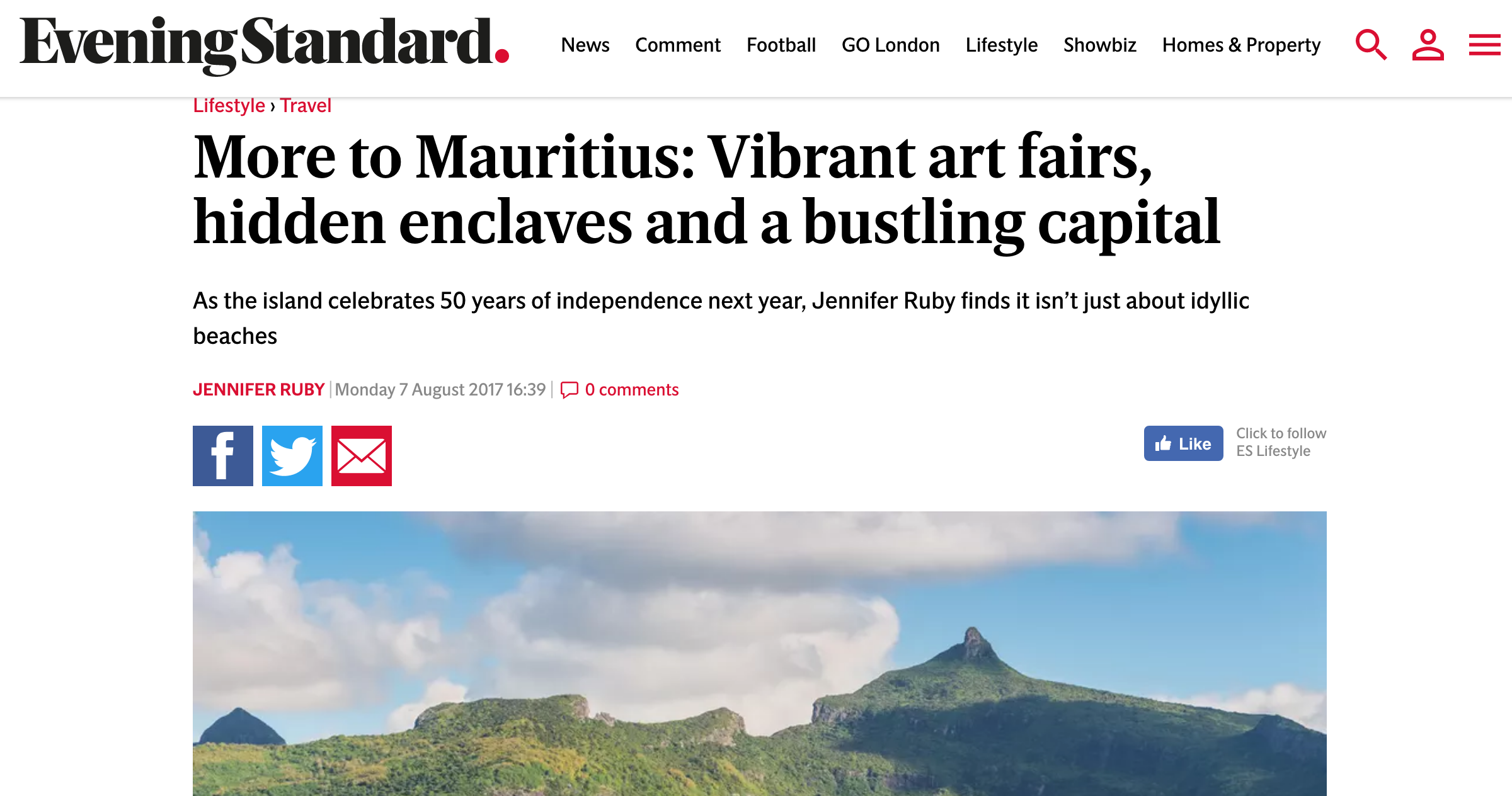 visit mauritius port-louis evening standard