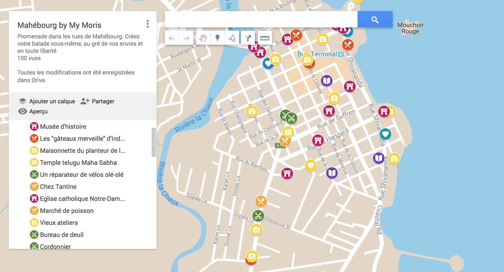 visite Mahébourg carte google balade promenade histoire culture patrimoine